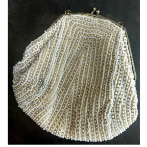 Antique Glass Pearl Bead Handbag 1900's